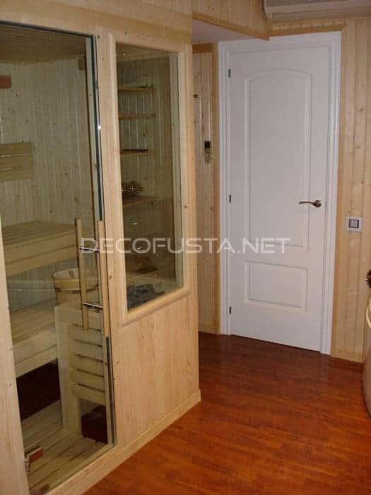 Suelo Flint en sauna