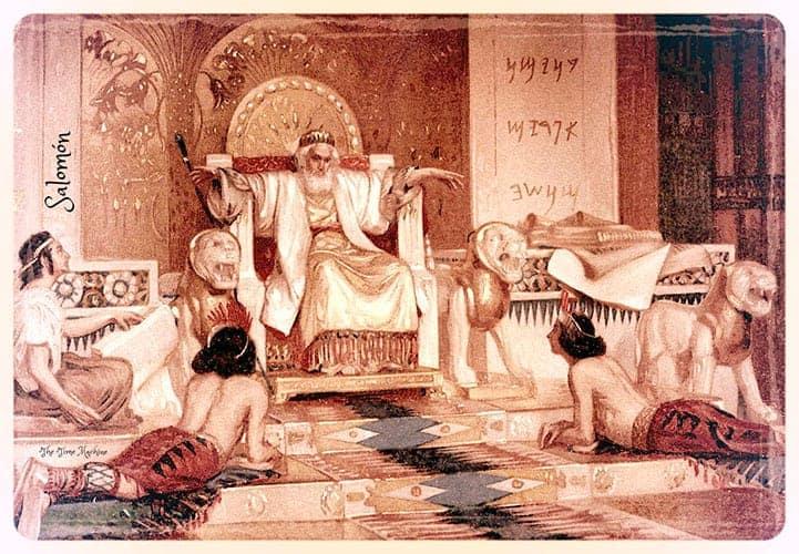 Primeros suelos de madera en el templo del Rey Salomon.