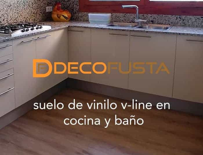 suelo de vinilo v line en cocina y bano